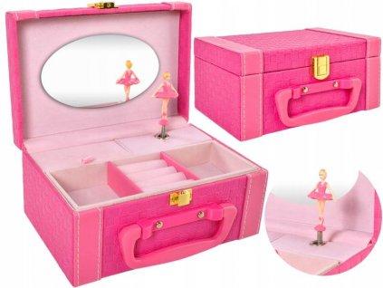 Hrací skříňka s baletkou růžová