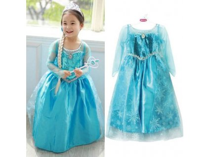 KIK Elsa šaty kostým Frozen Ledové království 110 cm