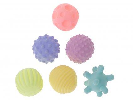 Měkké senzorické hrací kostky 6 ks
