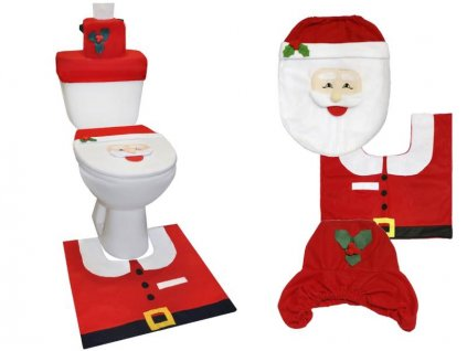 Vánoční potah na toaletu Santa Claus