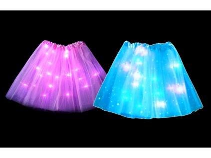 LED svítící sukně PRINCESS - modrá