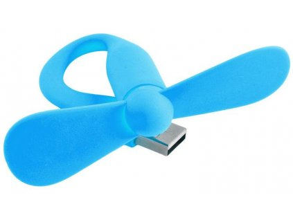 USB větráček modrý