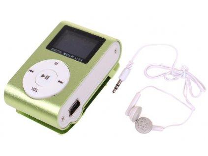 MP3 MINI přehrávač - zelená