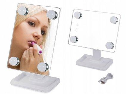 Kosmetické zrcátko LED color