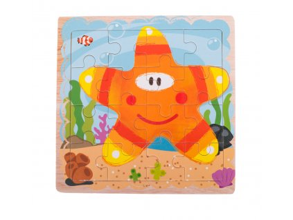 Dřevěné puzzle Hvězda 16 dílků