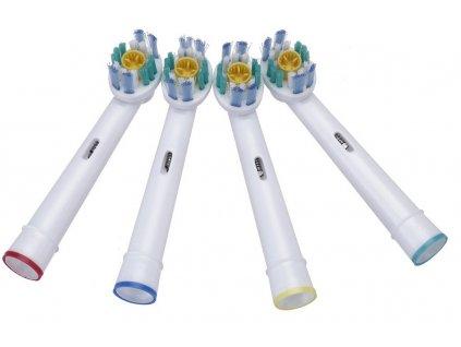 3D White Náhradní zubní kartáčky na ORAL-B univerzální - 4 ks