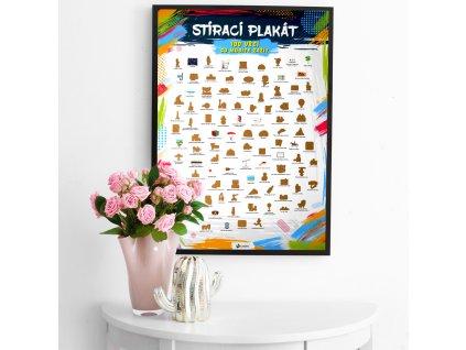 Stírací plakát - 100 věcí co musíte zažít