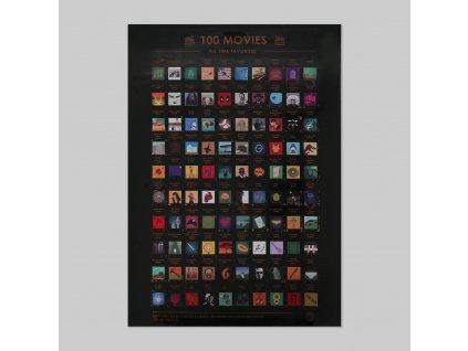 Seškrabávací plakát - 100 filmů, které musíte vidět