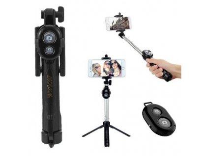 Selfie tyč, stativ s bluetooth ovladačem 3v1