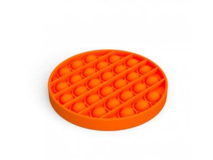 Pop it game Antistresová hra - kolečko oranžové
