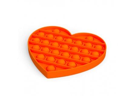 Push game Antistresová hra - srdce oranžové