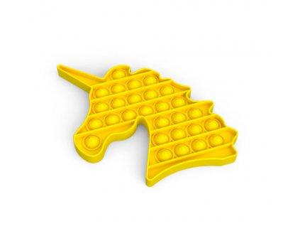 Push game Antistresová hra - jednorožec žlutý