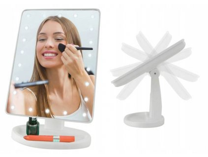 ISO 5886 Kosmetické zrcátko 16 LED
