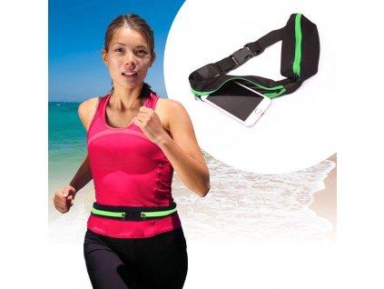 Sportovní ledvinka slim - zelená