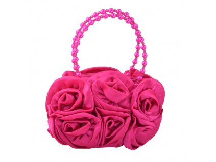Psaníčko růže s perličkami - tmavě růžová