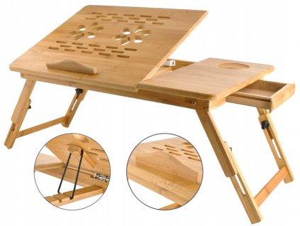 ISO 7974 Stolek na notebook do postele bambus