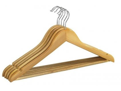 Dřevěná ramínka 3ks