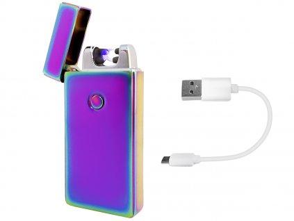 Elektrický zapalovač Plazma USB - fialový