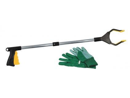 BUKI Sběrač na odpadky + rukavice