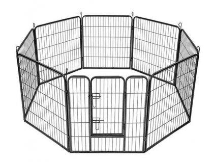 Malatec 9041 Kovová ohrádka pro pejsky a štěňata 8dílná 80 x 80 cm