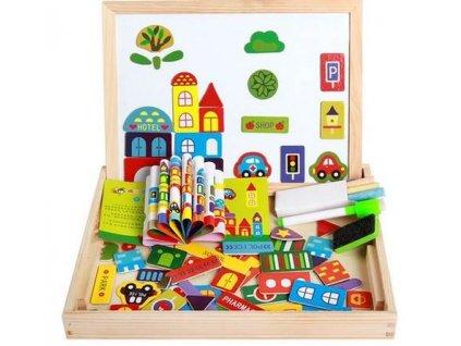 KIK KX7547 Dřevěná magnetická tabulka