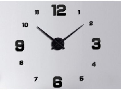 Designové 3D nalepovací hodiny 130 cm Black