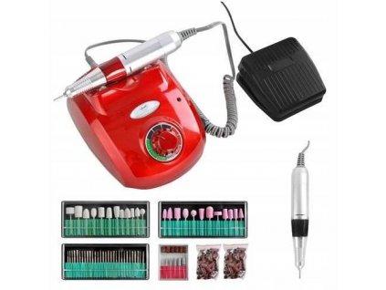 Beautylushh 8992 Bruska na nehty s nástavci HBS-402 červená