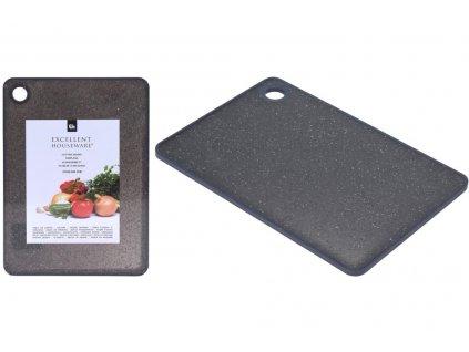 Krájecí prkénko EH (23x16x0,7cm) - Mramorové, černé