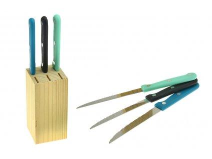 Steakové nože v dřevěném podstavci EH - Set 7ks