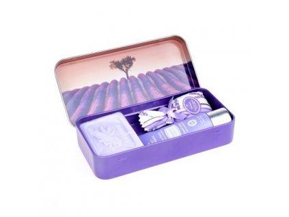 Esprit Provence Set krému na ruce, mýdla a pytlíčku - Strom v levandulovém poli,30ml+60g