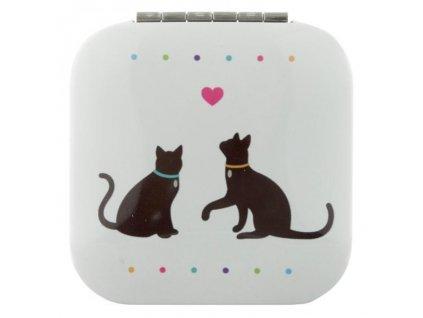 Zrcátko do kabelky s kočičkami