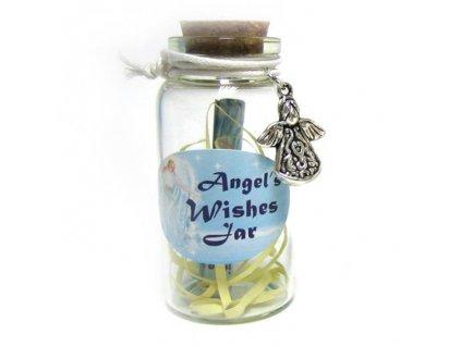 Přívěšek ze skla Andělské přání