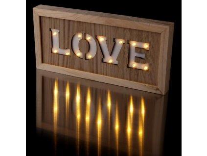 Svítící LED dekorace Love