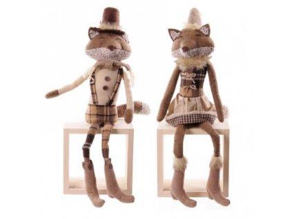Dekorativní Sedící liška nebo lišák