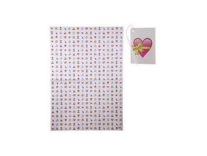 Svatební balicí papír 70x100 cm + visačka