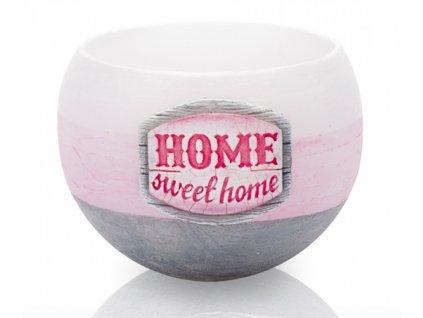 Vonný lampion Home sweet home na čajovou svíčku, 2 barvy
