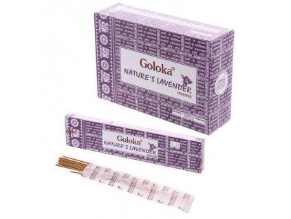 Vonné tyčinky Goloka Nature's Lavender