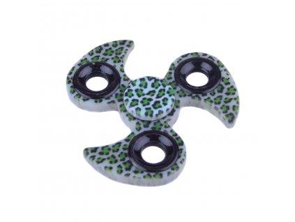 Fidget Spinner tygrovaný zelený