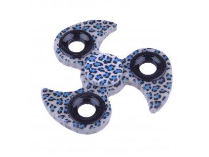 Fidget Spinner tygrovaný modrý