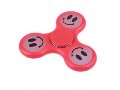 Fidget Spinner fosforový červený