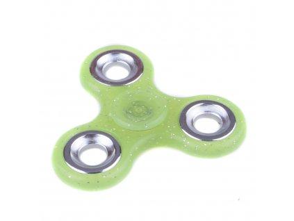 Fidget Spinner se třpytkami zelený
