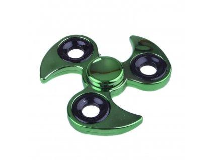 Fidget Spinner Hvězdice kov zelená