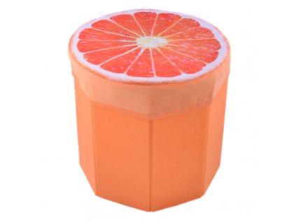 Skládací taburet Pomeranč 31 cm