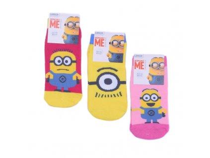 Dětské ponožky Mimoni 3 druhy