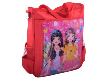 Velká kabelka s lesklým obrázkem 4 barvy