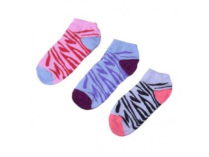 Barevné tygrované ponožky 3 páry/set3