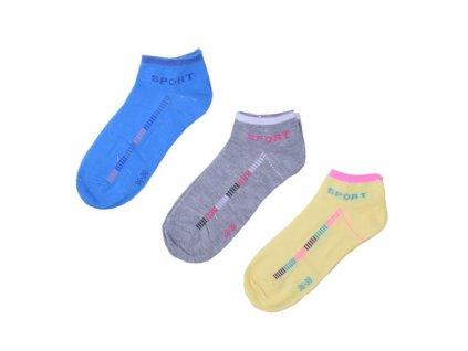 Sportovní barevné ponožky 3 páry/set2