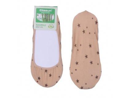 Bambusové ponožky do balerín Hvězdy 6 barev