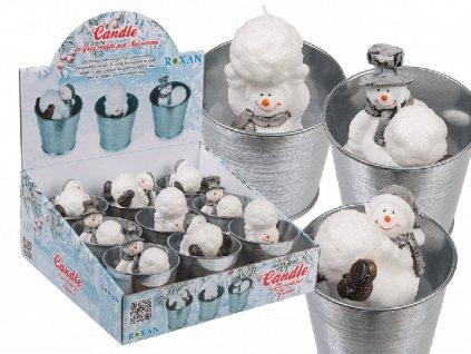 Vánoční svíčka Sněhulák