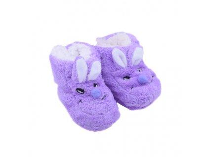 Capáčky Králíček fialová 12 cm